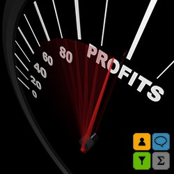Speedometer - Rising Profits Successful Business